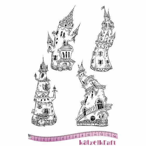 les-chateaux-rubber-stamp-french-style