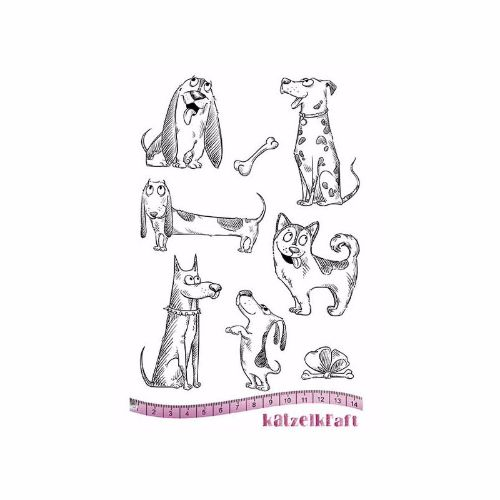 les-chiens-rubber-stamp-french-style