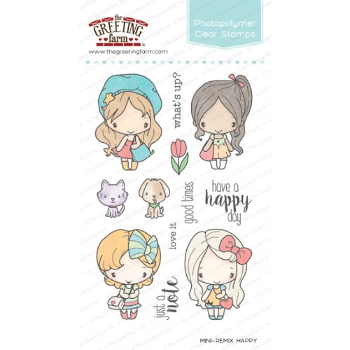 The greeting farm stamps new zealand krafters cart the greeting farm mini remix happy free shipping m4hsunfo