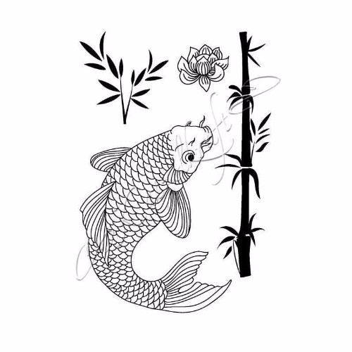 koi-rubber-stamp-french-style