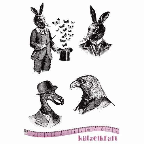 les-anthropomorphes-magic-rubber-stamp-french-style