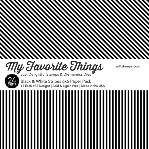MFT – Black & White Stripes Paper Pack